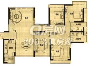 120平方房子设计图四房二厅